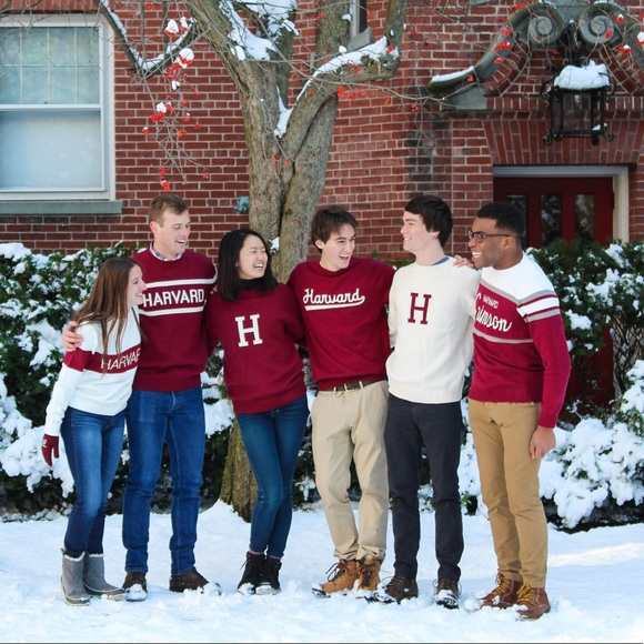 Harvard Knit Stadium Sweater